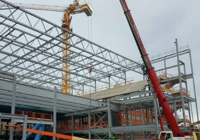 steel erection crane hire